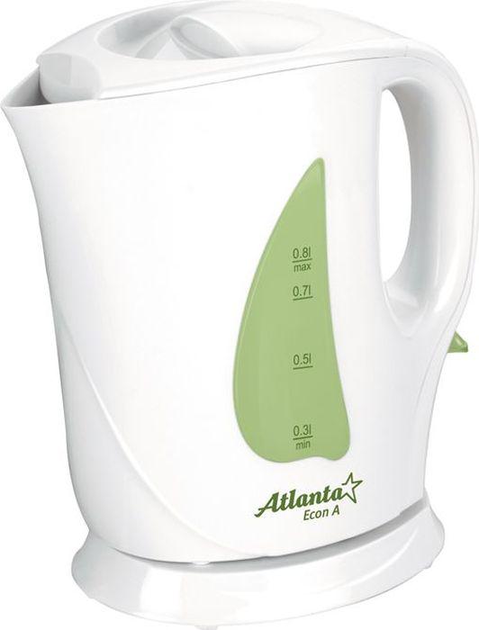 Atlanta ATH-717, Green чайник электрический77.858@18015КомпактныйОбъем 0,8 литраБыстрое закипаниеФильтр от накипиТЭН из нержавеющей сталиАвтоматическое отключениеЗащита от перегрева без водыЭлектрошнур в цокольной подставкеНизкий уровень энергопотребленияМощность 900W230V, 50Hz.