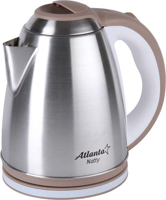 Atlanta ATH-2434, Brown чайник электрический77.858@26766Электрический чайник Atlanta ATH-2434 прост в управлении и долговечен в использовании. Изготовлен из высококачественных материалов. Мощность 1500 Вт позволит вскипятить 1,8 литра воды в считанные минуты. Для обеспечения безопасности при повседневном использовании предусмотрены функция автовыключения, а также защита от включения при отсутствии воды. Закрытый нагревательный элемент из высококачественной стали, что позволяет чистить его от накипи простой щеткой.
