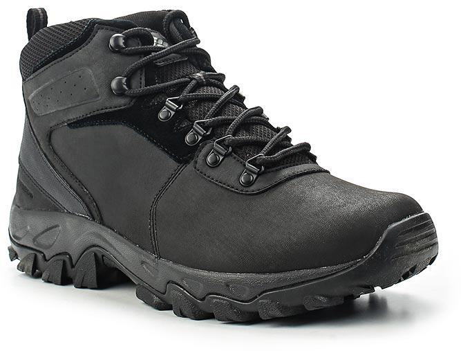 Ботинки мужские Columbia Newton Ridge Plus II Waterproof, цвет: черный. 1594731-011. Размер 11 (45)1594731-011Туристические ботинки Newton Ridge Plus II Waterproof. Верх из натуральной кожи. Полностью водонепроницаемая конструкция с проклеенными швами. Легкая подошва из материала Techlite обеспечивает амортизацию и поддержку, при этом сохраняет небольшой вес обуви. Подметка Omni-Grip, разработанная специально для ходьбы по пересеченной местности, обеспечивает сцепление на любых поверхностях. Модель подходит для активного отдыха, походов и треккинга.
