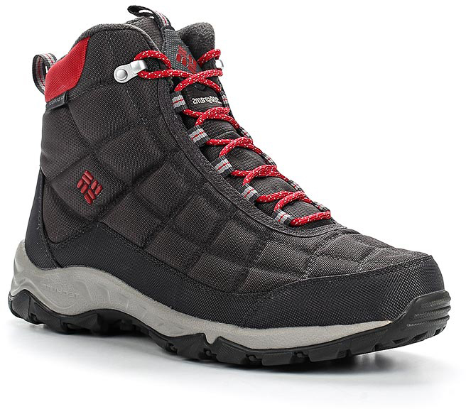 Ботинки мужские Columbia Firecamp Boot, цвет: серый. 1672881-089. Размер 9 (42)1672881-089Утепленные ботинки для активного отдыха Firecamp Boot. Легкие и прочные благодаря верху из материала Cordura. Мембрана Omni-Tech полностью защищает от влаги и отводит испарения изнутри. Плотность утеплителя 200 гр/м2, что помогает сохранять тепло в суровых зимних условиях. Защита мыска и пятки. Подошва Techlite амортизирует и поддерживает стопу. Подметка Omni-Grip обеспечивает сцепление на зимних поверхностях. Подойдут как для активного отдыха, так и для города.