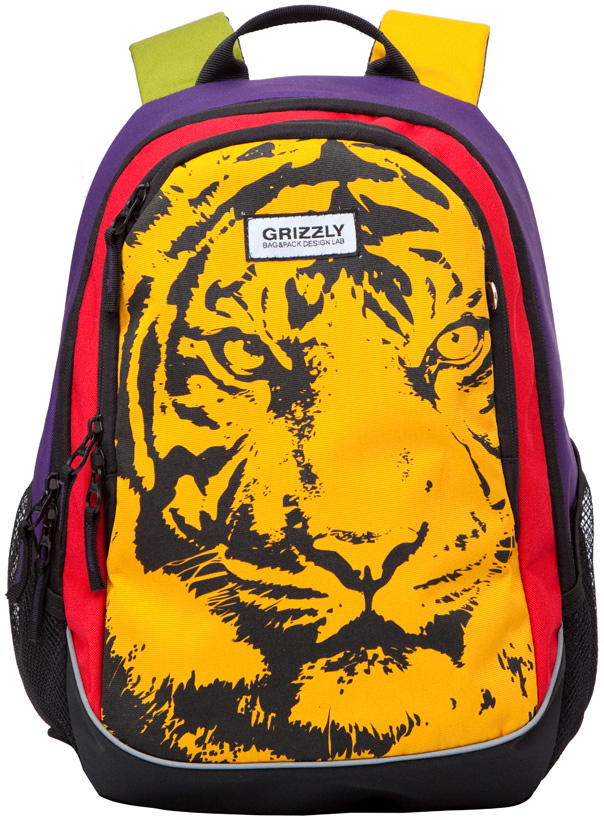 Рюкзак молодежный женский  Grizzly , цвет: желтый, красный, фиолетовый, 12,5 л. RD-637-1/2 - Рюкзаки