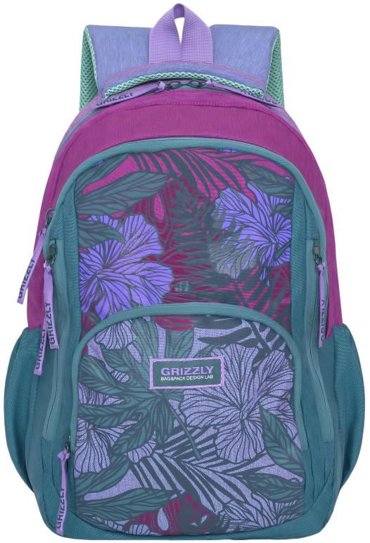 Рюкзак молодежный женский Grizzly, цвет: зеленый, 15,5 л. RD-754-1/3RD-754-1/3Женский рюкзак Grizzly изготовлен из полиэстера и имеет два главных отделения, закрывающиеся застежки-молнии, бъемный карман на молнии на передней стенке, боковые карманы на резинке, внутренний карман для планшета, внутренний карман на молнии, внутренний составной пенал-органайзер. Рюкзак с анатомической спинкой оснащен двумя широкими мягкими лямками регулируемой длины и удобной короткой ручкой.