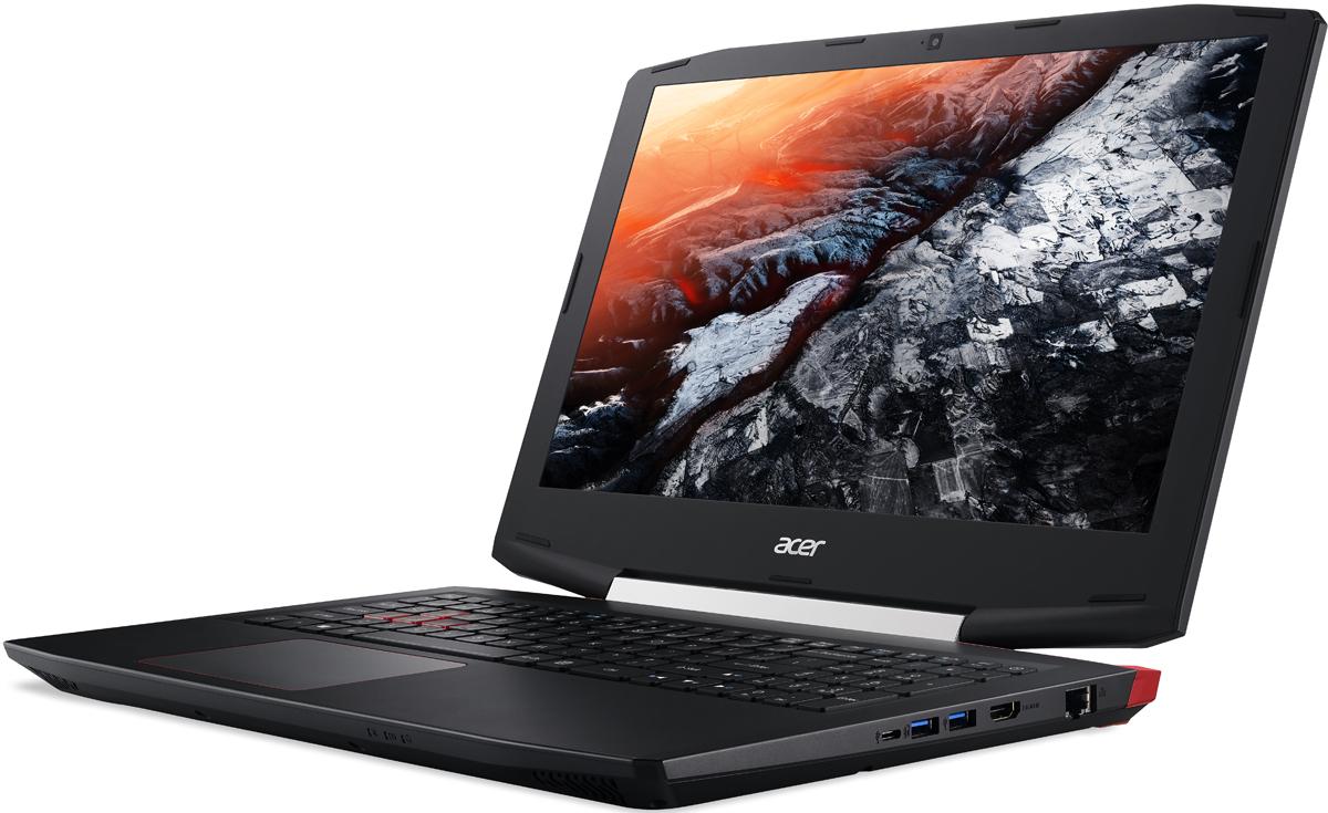 Acer Aspire VX 15, Black (VX5-591G-58QK)VX5-591G-58QKБлагодаря уникальным инженерным решениям Aspire VX 15 поможет вам доминировать в играх.Острые грани, тонкие линии и яркие акценты покажут, что вы опасный соперник и вас стоит воспринимать всерьез.Система охлаждения с двумя кулерами не позволит перегреву снизить вашу производительность и уступить сопернику.Красная светодиодная подсветка позволит выбрать нужную комбинацию клавиш даже в темноте.Мощные процессоры Intel Core i, графические карты NVIDIA GeForce серии GTX 10 и технология Dolby Audio Premium позволят играть на максимуме.Технологии Acer TrueHarmony и Dolby Audio Premium обеспечат качественный звук, который сделает игру еще более реалистичной независимо от окружающей обстановки.Устойчивый сигнал беспроводного подключения обеспечивается благодаря продуманному расположению антенны 802.11ac.Точные характеристики зависят от модификации.Ноутбук сертифицирован EAC и имеет русифицированную клавиатуру и Руководство пользователя