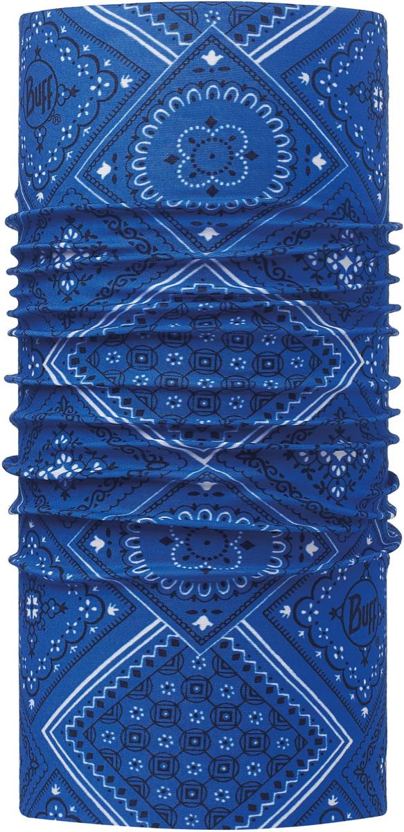 Бандана Buff Original, цвет: синий. 113060.707.10.00. Размер универсальный113060.707.10.00Бандана Buff Original - это оригинальный, мультифункциональный, бесшовный головной убор - удобный и комфортный для любого вида активного отдыха и спорта. Оригинальный, потому что Buff был и является первым в мире брендом мультифункциональных, бесшовных и универсальных головных уборов. Мультифункциональный, потому что их можно носить самыми разными способами: как шарф, как шапку, как балаклаву, косынку, бандану, маску, напульсник и многими другими - решает Ваша фантазия! Универсальный головной убор, который можно носить более чем двенадцатью способами, который можно использовать при занятии любым видом спорта, езде на велосипеде и мотоцикле, катаясь или бегая на лыжах, и даже как аксессуар в городской одежде. Бесшовный, благодаря эластичности, позволяющей использовать эти головные уборы как угодно и не беспокоиться о том, что кожа может быть натерта или раздражена швами.