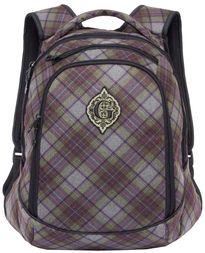 Рюкзак женский Grizzly, цвет: оливковый, серый, 14,5 л. RD-745-1/4RD-745-1/4Женский рюкзак Grizzly изготовлен из полиэстера и имеет два главных отделения, закрывающиеся застежки-молнии, внутренний карман на молнии, внутренний карман-пенал для карандашей. Рюкзак с анатомической спинкой оснащен двумя широкими мягкими лямками регулируемой длины и удобной короткой ручкой.