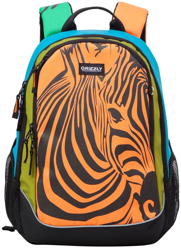 Рюкзак женский Grizzly, цвет: мультиколор, 12,5 л. RD-637-1/1 рюкзаки grizzly рюкзак