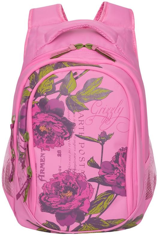Рюкзак женский Grizzly, цвет: розовый, 13,5 л. RD-752-2/1 рюкзаки grizzly рюкзак