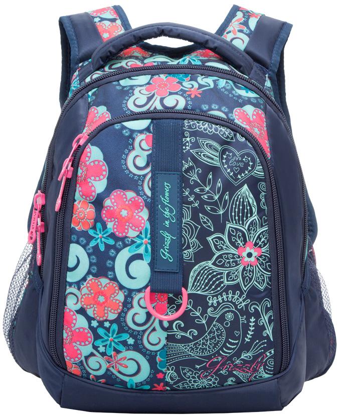 Рюкзак женский Grizzly, цвет: темно-синий, 14,5 л. RD-621-1/4 рюкзаки grizzly рюкзак