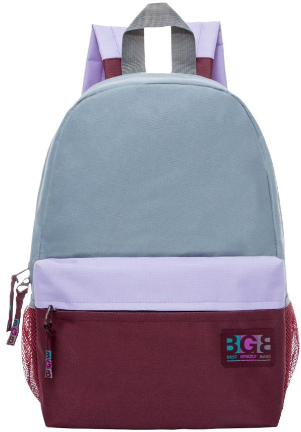Рюкзак молодежный женский Grizzly, цвет: серый, бордовый, 14 л. RD-750-5/5RD-750-5/5Женский рюкзак Grizzly изготовлен из полиэстера и имеет одно главное отделение, закрывающееся застежку-молнию, объемный карман на молнии на передней стенке, боковые карманы из сетки, внутренний карман. Рюкзак с анатомической спинкой оснащен двумя широкими мягкими лямками регулируемой длины и удобной короткой ручкой.