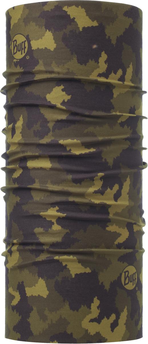 Бандана Buff Original, цвет: хаки. 115218.846.10.00. Размер универсальный115218.846.10.00Бандана Buff Original - это оригинальный, мультифункциональный, бесшовный головной убор - удобный и комфортный для любого вида активного отдыха и спорта. Оригинальный, потому что Buff был и является первым в мире брендом мультифункциональных, бесшовных и универсальных головных уборов. Мультифункциональный, потому что их можно носить самыми разными способами: как шарф, как шапку, как балаклаву, косынку, бандану, маску, напульсник и многими другими - решает Ваша фантазия! Универсальный головной убор, который можно носить более чем двенадцатью способами, который можно использовать при занятии любым видом спорта, езде на велосипеде и мотоцикле, катаясь или бегая на лыжах, и даже как аксессуар в городской одежде. Бесшовный, благодаря эластичности, позволяющей использовать эти головные уборы как угодно и не беспокоиться о том, что кожа может быть натерта или раздражена швами.