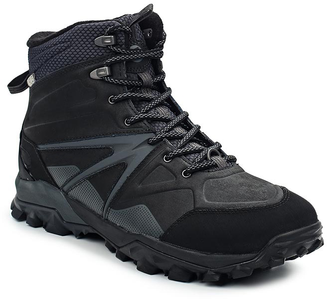 Ботинки мужские Merrell Capra Glacial Ice+ Mid Wtpf, цвет: черный. 35799. Размер 9 (42)35799Утепленные мужские ботинки Merrell отлично подойдут для туризма. Модель, выполненная из высококачественных материалов, дополнена декоративным тиснением. Классическая шнуровка надежно зафиксирует изделие на ноге. Стелька из текстиля и флисовая подкладка обеспечивают надежную термоизоляцию. Нейлоновый супинатор поддерживает свод стопы. Подкладка с антибактериальной пропиткой устраняет неприятный запах. Усиленный подносок и формованный задник из термополиуретана для дополнительной защиты и повышенной износостойкости. Подошва с рифлением обеспечивает отличное сцепление на любой поверхности. В таких ботинках вашим ногам будет уютно и комфортно.