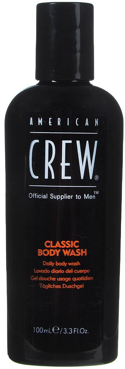 American Crew Classic Body Wash Гель для душа, 100 мл7240517000American Crew Classic Body Wash - это нежный гель для душа с настоящим мужским ароматом, удивительно сочетающим специи и цитрусы. Экстракт корня женьшеня увлажняет и смягчает волосы и кожу головы. Глицерин помогает сохранить естественные свойства кожи. Витамины А и Е улучшают текстуру волос, повышают их силу. Масло кедрового дерева увлажняет сухую кожу головы, избавляет ее от раздражения.Способ применения: Нанести на влажную кожу. Тщательно смыть.Объем: 100 мл.Уважаемые клиенты!Обращаем ваше внимание на возможные изменения в дизайне упаковки. Качественные характеристики товара остаются неизменными. Поставка осуществляется в зависимости от наличия на складе.