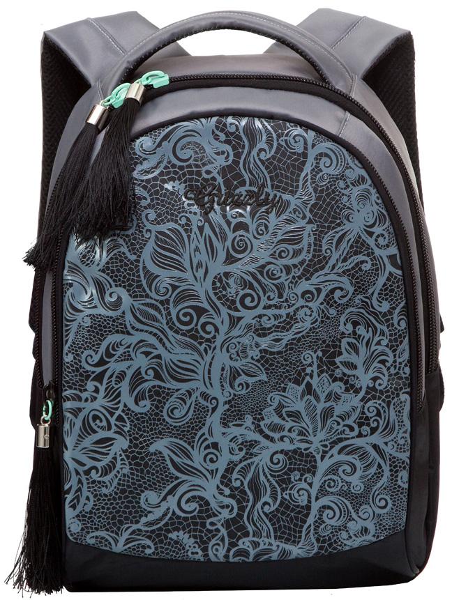 Рюкзак молодежный женский Grizzly, цвет: серый, 12 л. RD-638-1/2RD-638-1/2Женский рюкзак Grizzly изготовлен из полиэстера и имеет два главных отделения, закрывающиеся застежки-молнии, внутренний карман на молнии, внутренний карман-пенал для карандашей. Рюкзак с анатомической спинкой оснащен двумя широкими мягкими лямками регулируемой длины и удобной короткой ручкой.