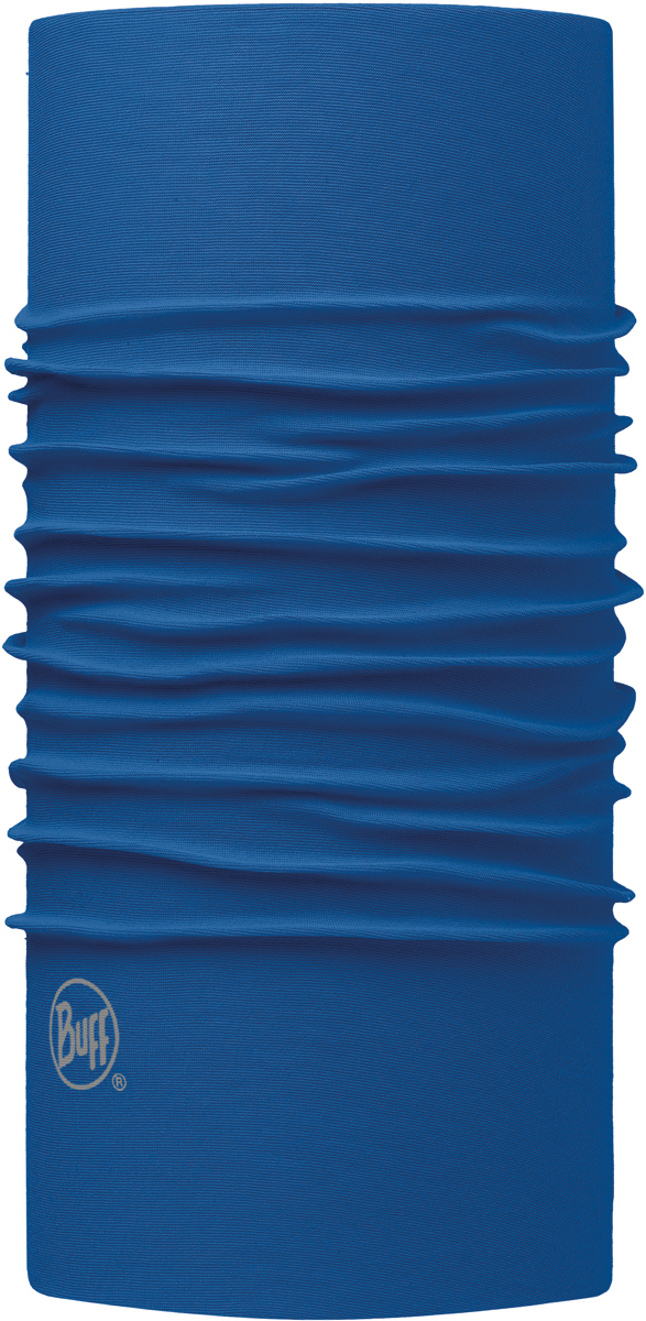Бандана Buff Original, цвет: синий. 113000.703.10.00. Размер универсальный113000.703.10.00Бандана Buff Original - это оригинальный, мультифункциональный, бесшовный головной убор - удобный и комфортный для любого вида активного отдыха и спорта. Оригинальный, потому что Buff был и является первым в мире брендом мультифункциональных, бесшовных и универсальных головных уборов. Мультифункциональный, потому что их можно носить самыми разными способами: как шарф, как шапку, как балаклаву, косынку, бандану, маску, напульсник и многими другими - решает Ваша фантазия! Универсальный головной убор, который можно носить более чем двенадцатью способами, который можно использовать при занятии любым видом спорта, езде на велосипеде и мотоцикле, катаясь или бегая на лыжах, и даже как аксессуар в городской одежде. Бесшовный, благодаря эластичности, позволяющей использовать эти головные уборы как угодно и не беспокоиться о том, что кожа может быть натерта или раздражена швами.