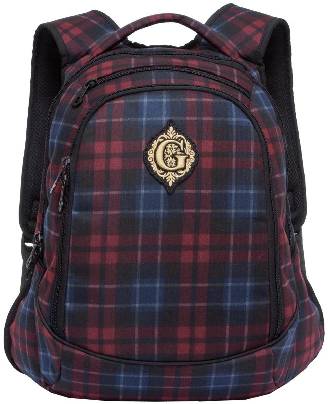 Рюкзак молодежный женский Grizzly, цвет: темно-синий, бордовый, 14,5 л. RD-745-1/3RD-745-1/3Рюкзак молодежный, два отделения, внутренний карман на молнии, внутренний карман-пенал для карандашей, анатомическая спинка, мягкая укрепленная ручка, укрепленные лямки