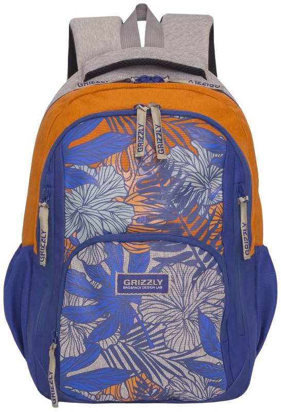 Рюкзак молодежный женский Grizzly, цвет: синий, серый, желтый, 15,5 л. RD-754-1/4RD-754-1/4Женский рюкзак Grizzly изготовлен из полиэстера и имеет два главных отделения, закрывающиеся на застежки-молнии, объемный карман на молнии на передней стенке, боковые карманы на резинке, внутренний карман для планшета, внутренний карман на молнии, внутренний составной пенал-органайзер. Рюкзак с анатомической спинкой оснащен двумя широкими мягкими лямками регулируемой длины и удобной короткой ручкой.