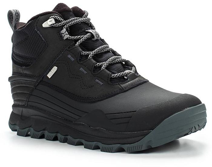 Ботинки мужские Merrell Thermo Vortex 6» Wtpf, цвет: черный. 46125. Размер 11H (46)46125Утепленные мужские ботинки Merrell отлично подойдут для туризма. Модель, выполненная из высококачественных материалов, дополнена прострочкой и декоративным тиснением. Классическая шнуровка надежно зафиксирует изделие на ноге. Стелька из текстиля и флисовая подкладка обеспечивают надежную термоизоляцию. Нейлоновый супинатор поддерживает свод стопы. Усиленный подносок и формованный задник из термополиуретана для дополнительной защиты и повышенной износостойкости. Подошва с рифлением обеспечивает отличное сцепление на любой поверхности. В таких ботинках вашим ногам будет уютно и комфортно.