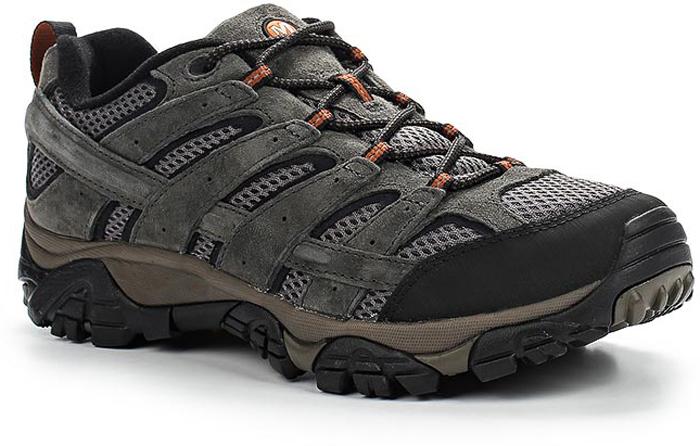 Ботинки мужские Merrell Moab 2 Vent, цвет: серый, черный. 6015. Размер 10 (43.5)6015Мужские ботинки Merrell отлично подойдут для туризма. Модель, выполненная из высококачественных материалов, дополнена вставками из синтетической сетки. Эластичная шнуровка надежно зафиксирует изделие на ноге. Стелька и подкладка из текстиля обеспечивают надежную термоизоляцию. Нейлоновый супинатор поддерживает свод стопы. Подкладка с антибактериальной пропиткой устраняет неприятный запах. Усиленный бампер обеспечивает защиту стопы от ударов. Подошва с рифлением обеспечивает отличное сцепление на любой поверхности. В таких ботинках вашим ногам будет уютно и комфортно.