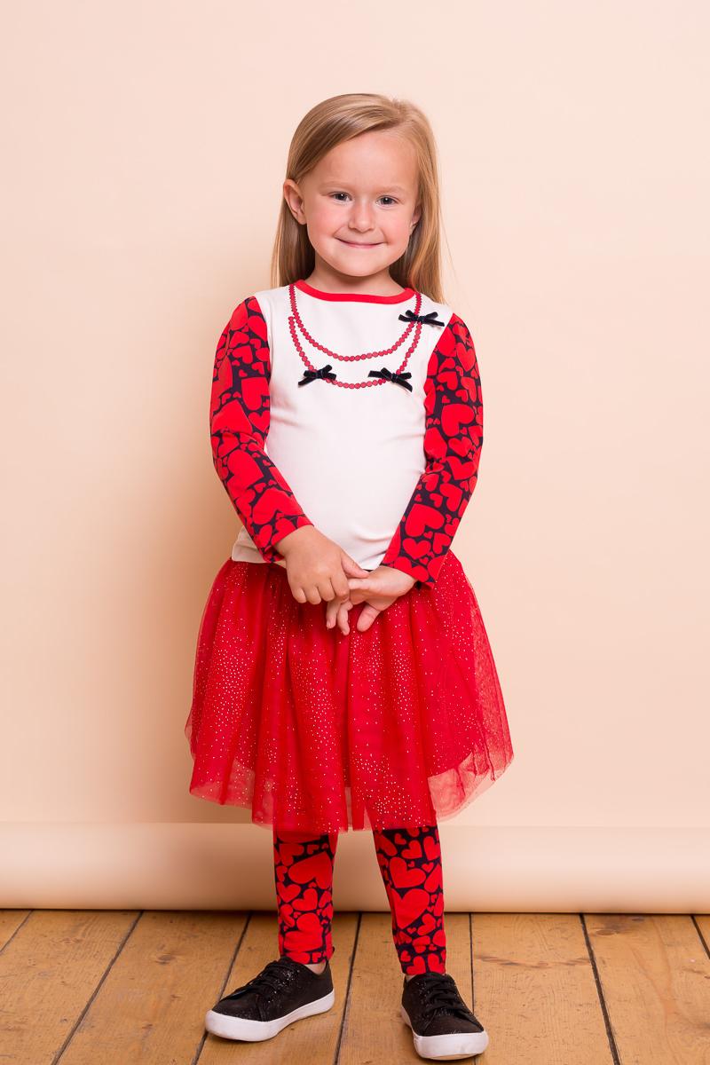 Леггинсы для девочки Sweet Berry Baby, цвет: красный. 732042. Размер 92732042Яркие леггинсы для девочки Sweet Berry Baby выполнены из трикотажного полотна с оригинальным печатным рисунком. Эластичный пояс не сдавливает животик и дарит комфорт при носке.