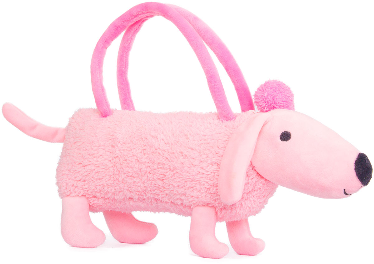 Button Blue Мягкая игрушка Собачка-сумочка цвет розовый 35 см button blue мягкая игрушка крутой бургер 20 см