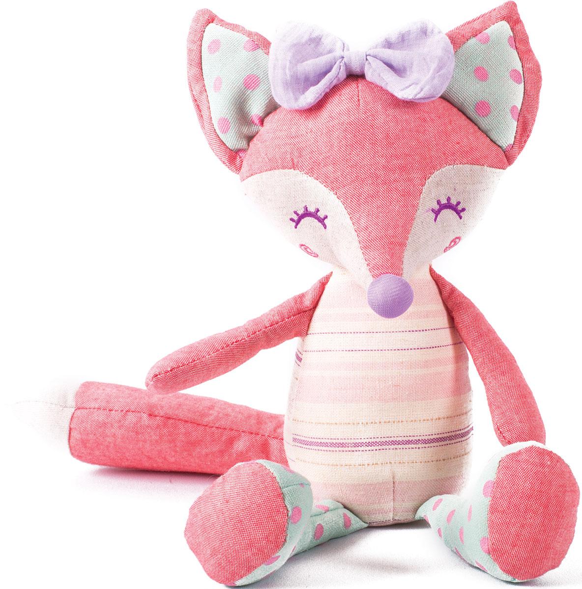 Gulliver Мягкая игрушка Лисичка Розочка 23 см - Мягкие игрушки