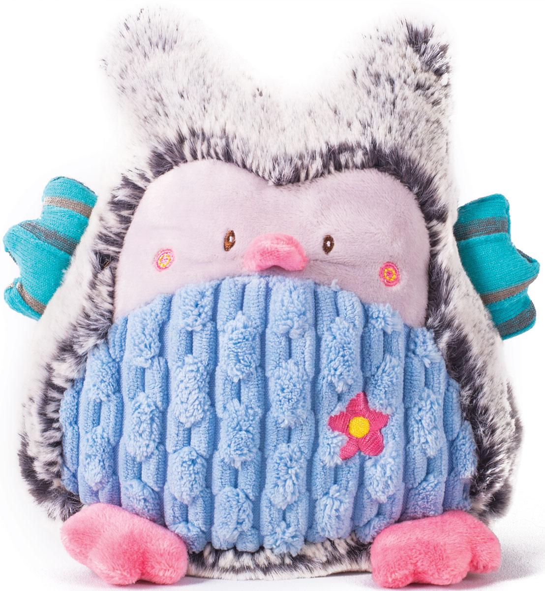 Gulliver Мягкая игрушка Совушка цвет серый голубой 17 см - Мягкие игрушки
