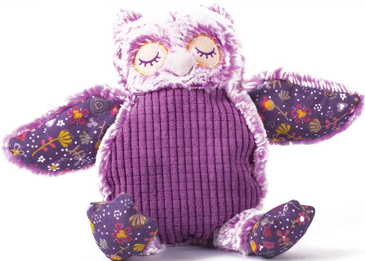 Gulliver Мягкая игрушка Совушка цвет фиолетовый 18 см - Мягкие игрушки