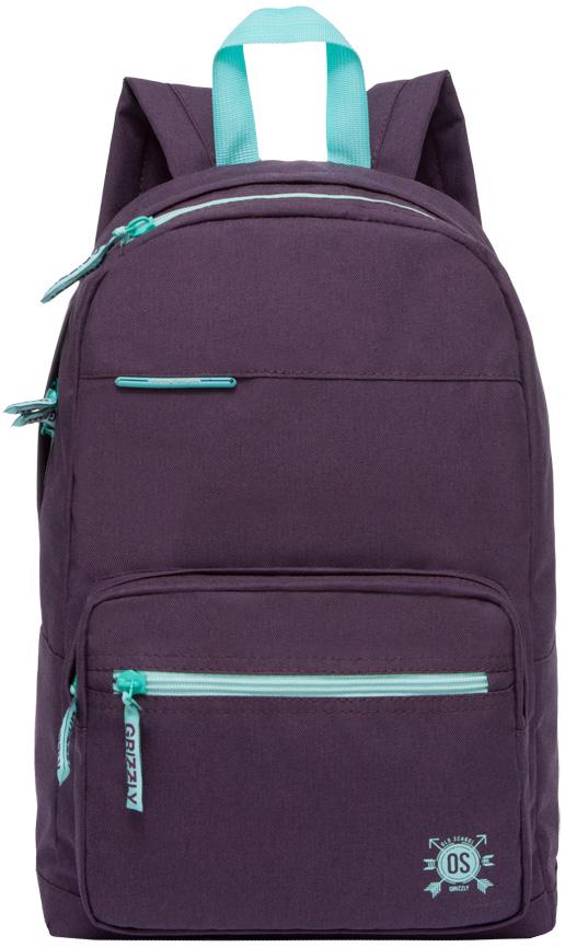 Рюкзак молодежный женский Grizzly, цвет: темно-фиолетовый, 16 л. RD-754-2/4RD-754-2/4Женский рюкзак Grizzly изготовлен из полиэстера и имеет три главных отделения, закрывающиеся на застежки-молнии, карман на молнии на передней стенке, объемный карман на молнии на передней стенке, внутренний карман на молнии, внутренний укрепленный карман для планшета. Рюкзак с анатомической спинкой оснащен двумя широкими мягкими лямками регулируемой длины и удобной короткой ручкой.