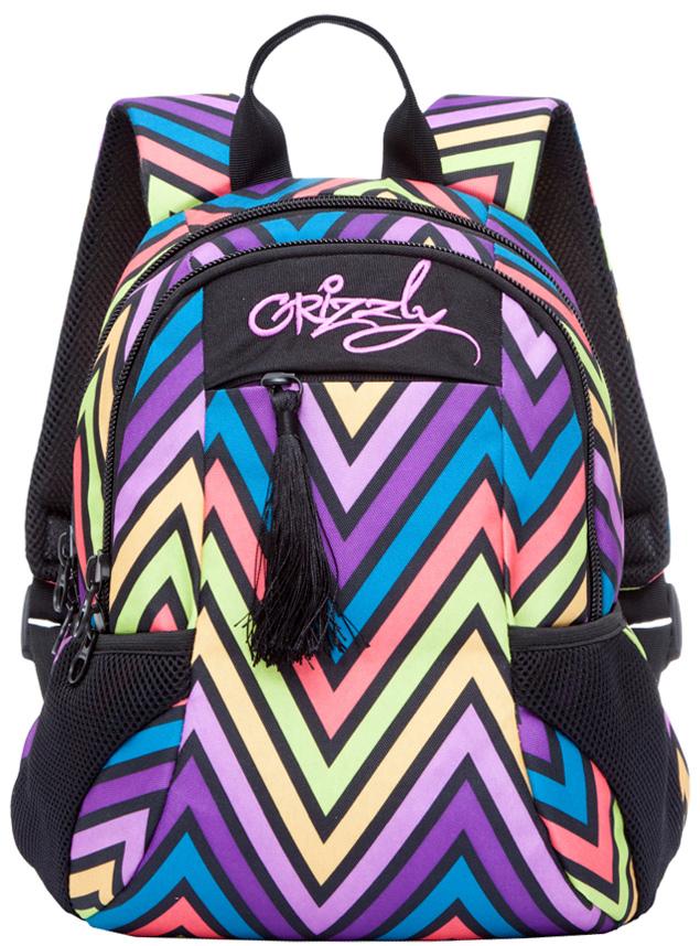 Рюкзак молодежный женский Grizzly, цвет: темно-фиолетовый, 9,5 л. RD-741-2/2RD-741-2/2Женский рюкзак Grizzly изготовлен из полиэстера и имеет три главных отделения, закрывающиеся на застежки-молнии, карман на молнии на передней стенке, боковые карманы из сетки, внутренний карман-пенал для карандашей. Рюкзак с анатомической спинкой оснащен двумя широкими мягкими лямками регулируемой длины и удобной короткой ручкой.