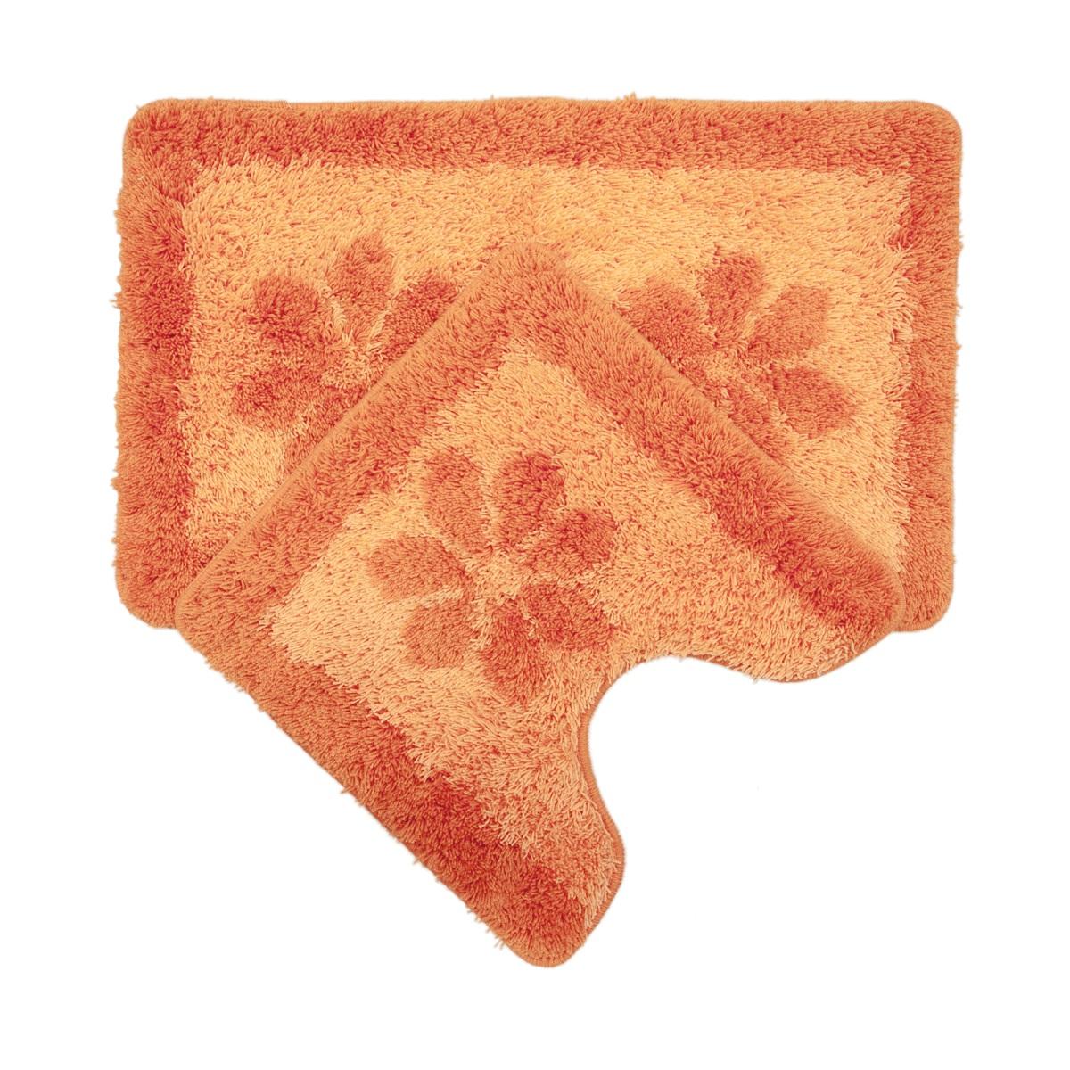 Набор ковриков для ванной Iddis Paloma Art, цвет: оранжевый, 50 х 80 см, 50 х 50 см, 2 шт042A580i13Набор ковриков для ванной комнаты и туалета Iddis выполнен из 100% акрила. Коврики имеют специальную латексную основу, благодаря которой они не скользят на напольных покрытиях в ванной, что обеспечивает безопасность во время использования. Коврики изготавливаются по специальным технологиям машинного ручного тафтинга, что гарантирует высокое качество и долговечность.Высота ворса: 2,5 см.