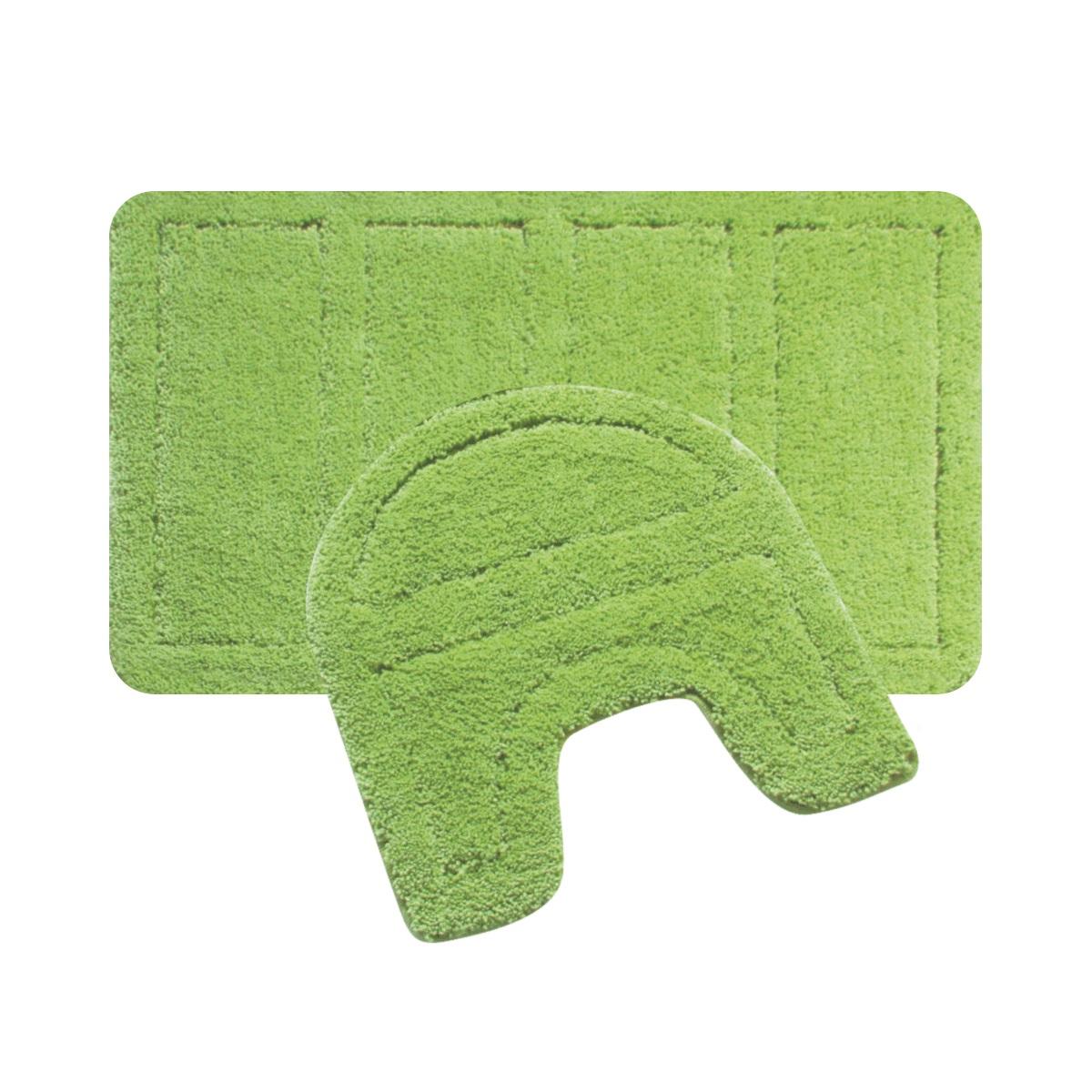 Набор ковриков для ванной Iddis Green Landscape, цвет: зеленый, 60 х 90 см, 50 х 50 см, 2 шт240M590i13Набор ковриков для ванной комнаты и туалета Iddis выполнен из 100% полиэстера. Коврики имеют специальную латексную основу, благодаря которой они не скользят на напольных покрытия в ванной, что обеспечивает безопасность во время использования. Коврики изготавливаются по специальным технологиям машинного ручного тафтинга, что гарантирует высокое качество и долговечность.Высота ворса: 2,5 см.