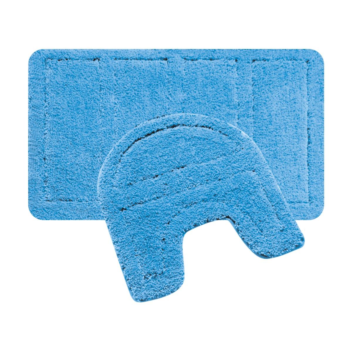 Набор ковриков для ванной Iddis Blue Landscape, цвет: синий, 60 х 90 см, 50 х 50 см, 2 шт241M590i13100% Полиэстеровые тканные коврики для ванной комнаты на латексной основе. Высота ворса 2.5см. Упаковка ПП пакет