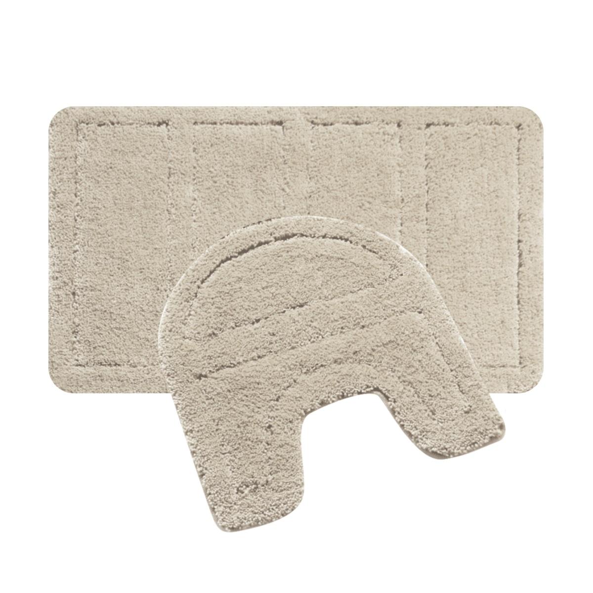 Набор ковриков для ванной Iddis Beige Landscape, цвет: бежевый, 60 х 90 см, 50 х 50 см, 2 шт242M590i13Набор ковриков для ванной комнаты и туалета Iddis выполнен из 100% полиэстера. Коврики имеют специальную латексную основу, благодаря которой они не скользят на напольных покрытия в ванной, что обеспечивает безопасность во время использования. Коврики изготавливаются по специальным технологиям машинного ручного тафтинга, что гарантирует высокое качество и долговечность.Высота ворса: 2,5 см.