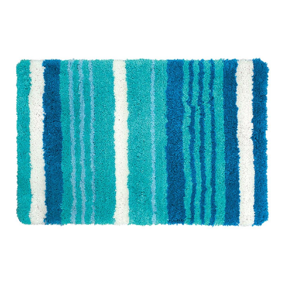 Коврик для ванной Iddis Blue Horizon, цвет: синий, 60 х 90 см коврик для ванной iddis curved lines 50x80 см 402a580i12