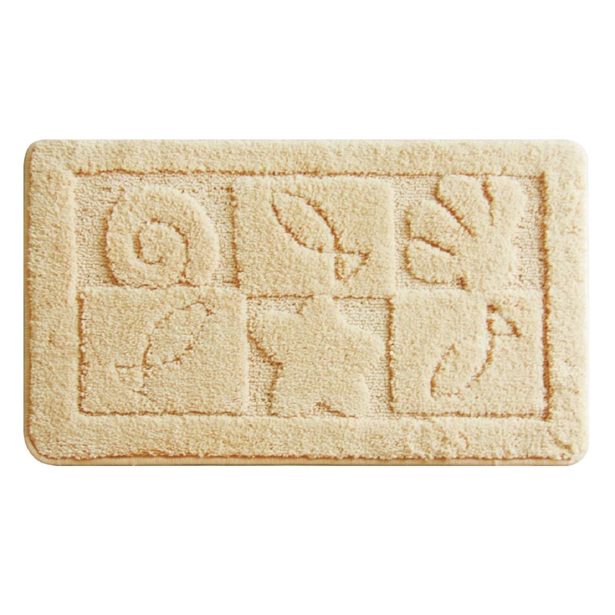 Коврик для ванной Milardo Reef (beige), цвет: бежевый, 40 х 70 см310M470M12100% Полиэстеровый тканный коврик для ванной комнаты на латексной основе. Высота ворса 1.5см. Упаковка ПП пакет