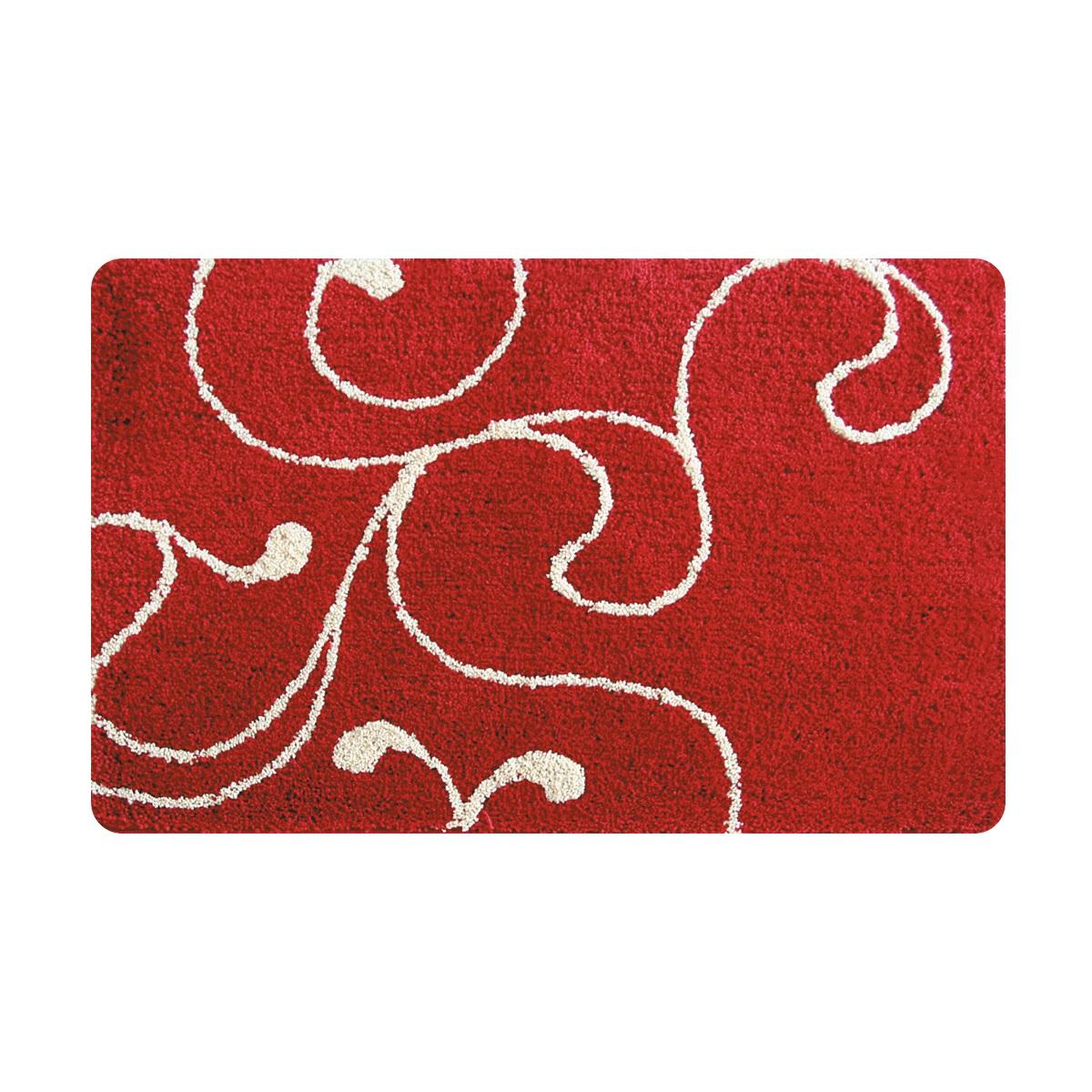 Коврик для ванной Iddis Flower Lace Red, цвет: красный, 60 х 90 см411M690I12100% полиэстер (микрофибра), тканный коврик для ванной комнаты на латексной основе. Высота ворса 2.5см. Упаковка ПП пакет