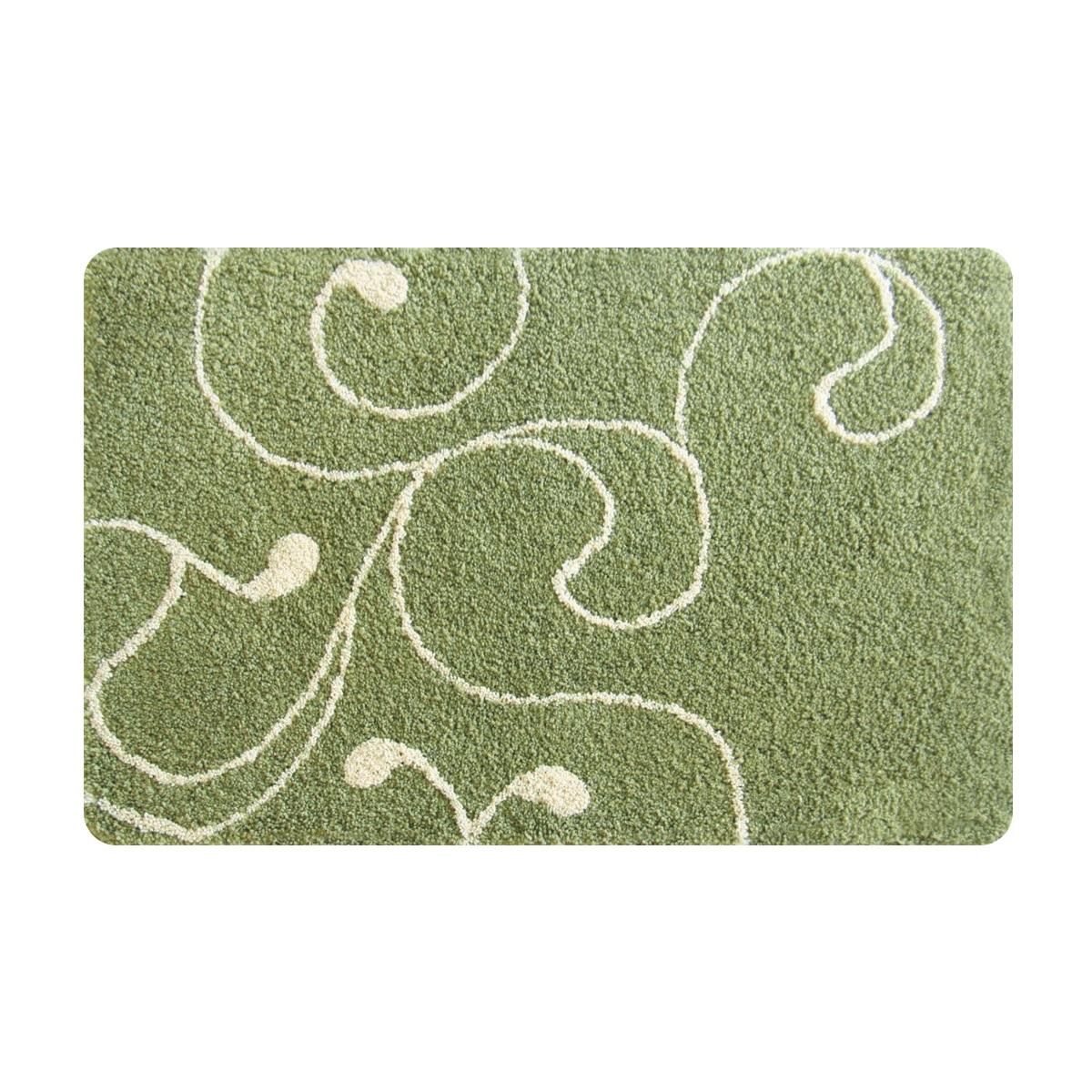 Коврик для ванной Iddis Flower Lace Green, цвет: зеленый, 60 х 90 см412M690I12Коврик для ванной комнаты Iddis выполнен из микрофибры. Коврик имеет специальную основу, благодаря которой он не скользит на напольных покрытия в ванной, что обеспечивает безопасность во время использования. Коврик изготавливается по специальным технологиям машинного ручного тафтинга, что гарантирует высокое качество и долговечность.Высота ворса: 2,5 см.