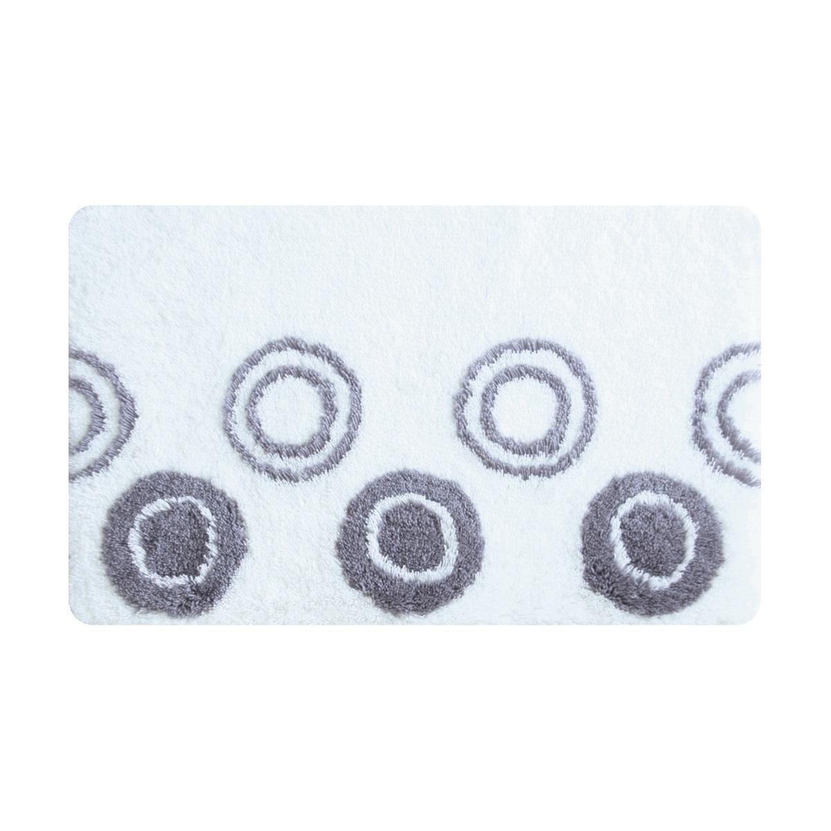 Коврик для ванной Iddis Chequers White, цвет: серо-белый, 50 х 80 см432A580I12Коврик для ванной комнаты Iddis выполнен из акрила. Коврик имеет специальную латексную основу, благодаря которой он не скользит на напольных покрытия в ванной, что обеспечивает безопасность во время использования. Коврик изготавливается по специальным технологиям машинного ручного тафтинга, что гарантирует высокое качество и долговечность.Высота ворса: 2,5 см.