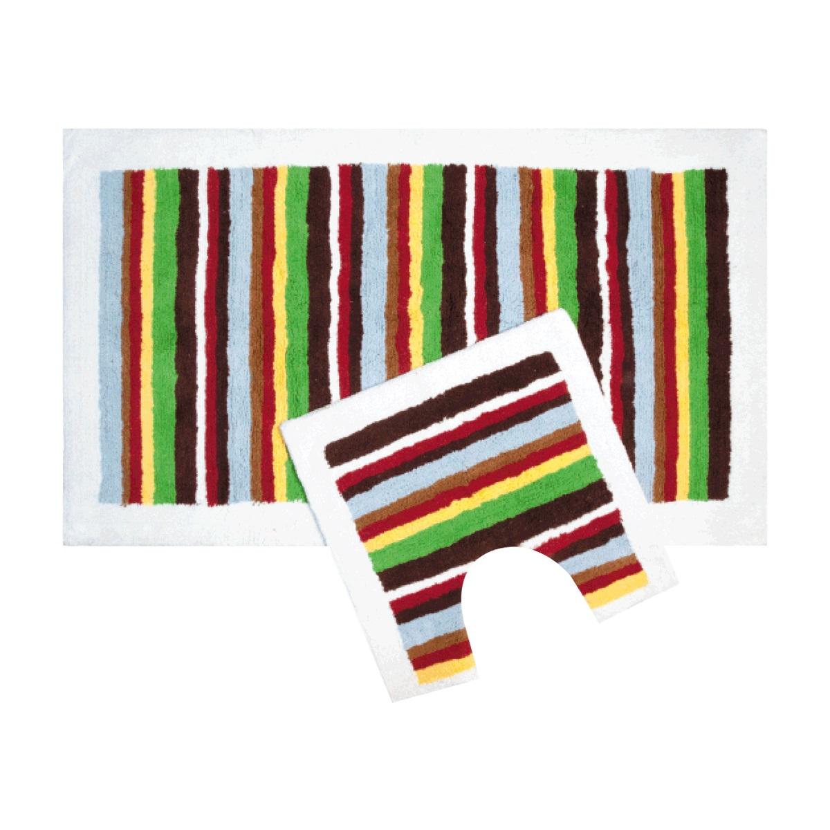 Набор ковриков для ванной Iddis Palette, цвет: коричнево-красный, 70 х 120 см, 50 х 50 см, 2 шт440C512i13Набор ковриков для ванной комнаты и туалета Iddis выполнен из 100% хлопка. Коврики имеют специальную основу Hot Metal, благодаря которой они не скользят на напольных покрытия в ванной, что обеспечивает безопасность во время использования. Коврики изготавливаются по специальным технологиям машинного ручного тафтинга, что гарантирует высокое качество и долговечность.Высота ворса: 1,5 см.