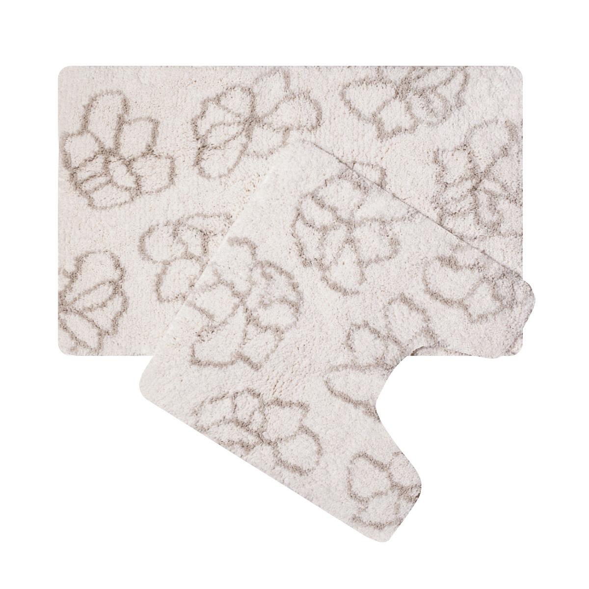 Набор ковриков для ванной Iddis Blessed spring, цвет: бежевый, 50 х 80 см, 50 х 50 см, 2 шт490M580i13100% полиэстер (микрофибра), тканный коврик для ванной комнаты на латексной основе. Высота ворса 2,5см. Упаковка ПП пакет