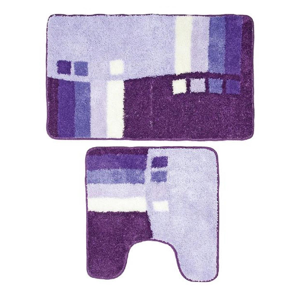 Комплект ковриков для ванной Milardo Meteora Skies, цвет: голубой, 2 шт490PA58M13Комплект Milardo Meteora Skies состоит из двух ковриков для ванной комнаты: прямоугольного и с вырезом. Изделия изготовлены из 90% полиэстера и 10% акрила. Благодаря специальной обработки нижней стороны, коврики не скользят на плитке. Яркий дизайн позволит оформить ванную комнату по вашему вкусу.Размер ковриков: 80 х 50 см; 50 х 50 см.Высота ворса: 1 см.