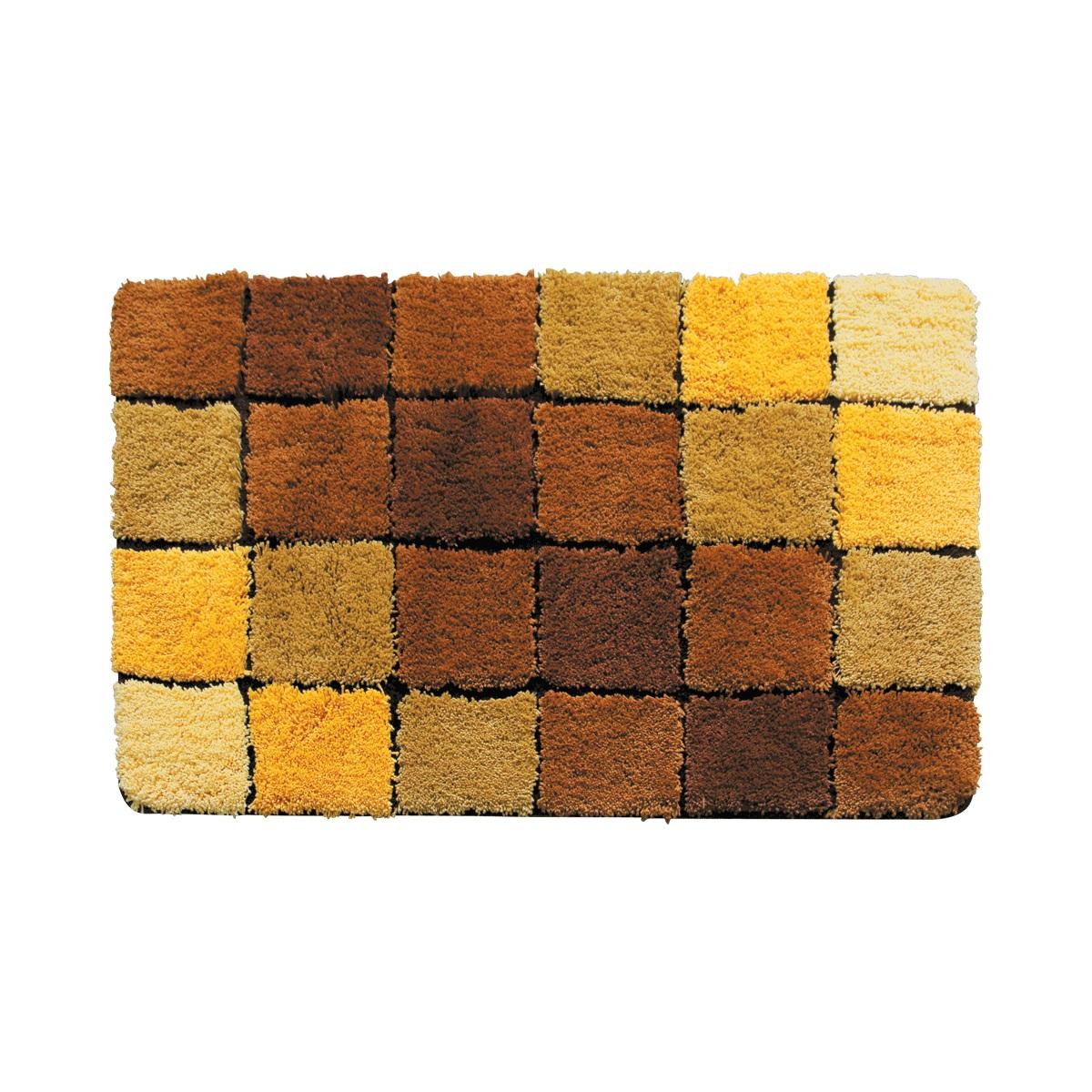 Коврик для ванной Iddis Tender scotch brown, цвет: бежевый, 70 х 120 см - Коврики
