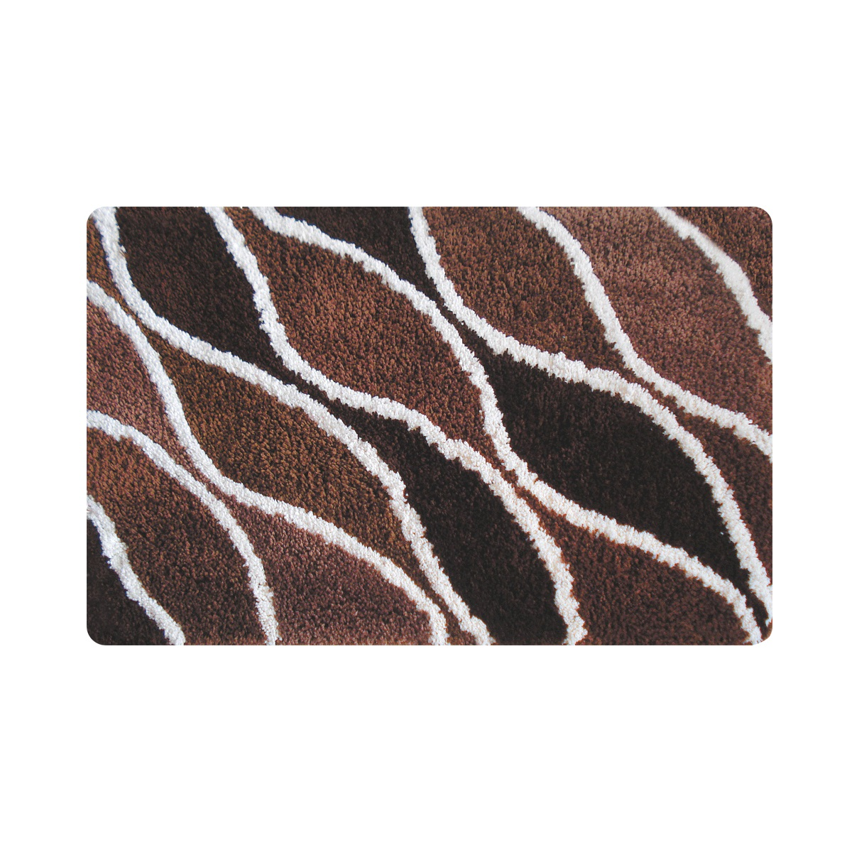 Коврик для ванной Iddis Fatty lines, цвет: коричневый, 50 х 80 см510M580i12Коврик для ванной комнаты Iddis выполнен из 100% полиэстера. Коврик имеет специальную латексную основу, благодаря которой он не скользит на напольных покрытиях в ванной, что обеспечивает безопасность во время использования. Коврик изготавливается по специальным технологиям машинного ручного тафтинга, что гарантирует высокое качество и долговечность.Высота ворса: 2,5 см.