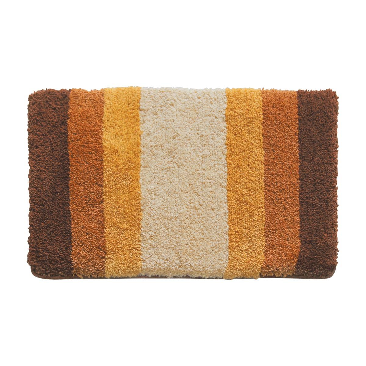 Коврик для ванной Iddis Beige Gradiente, цвет: бежевый, 50 х 80 см550M580i12100% Полиэстеровый тканный коврик для ванной комнаты 50*80 см на латексной основе. Высота ворса 2,5 см. Упаковка ПП пакет