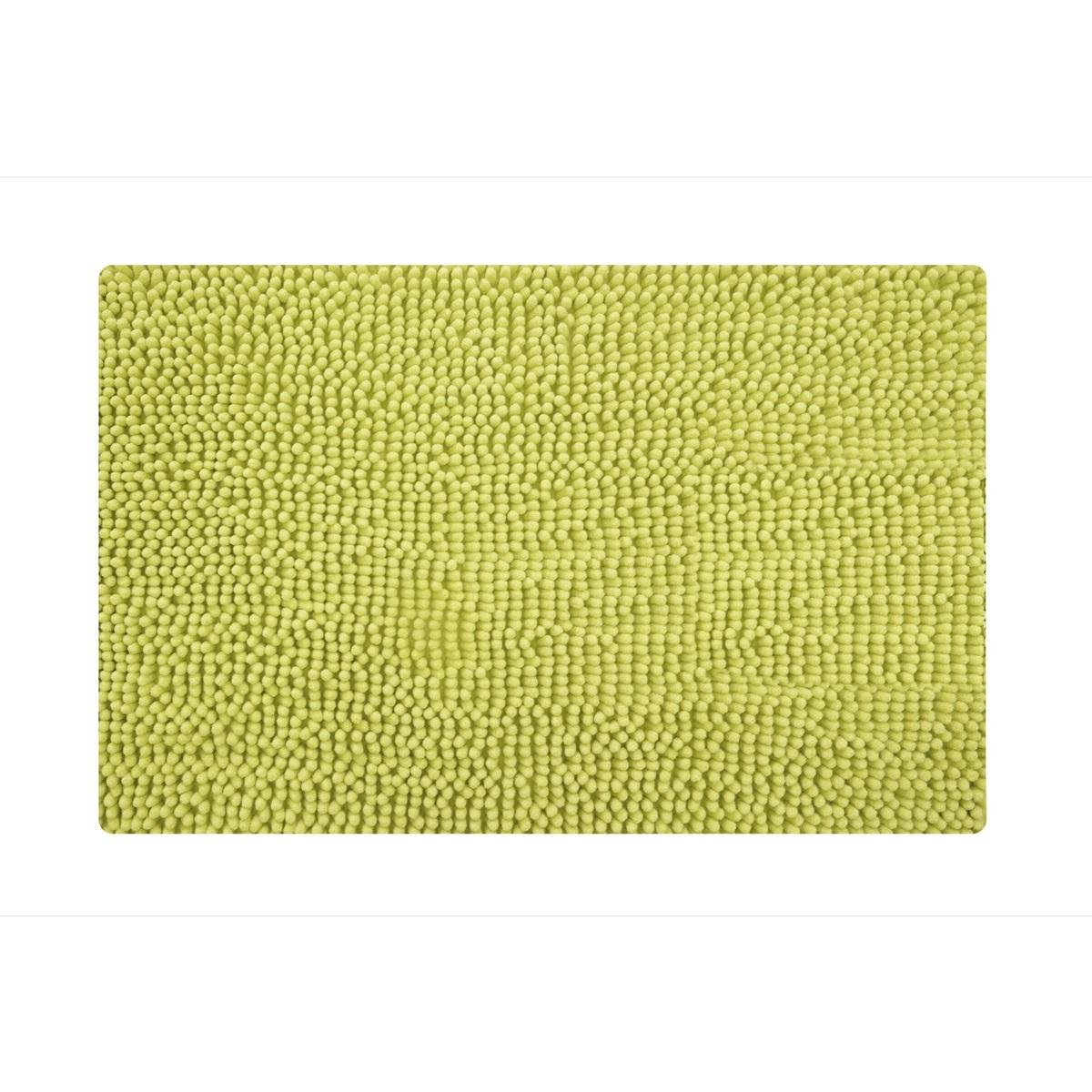 Коврик для ванной Iddis Green Leaf, цвет: зеленый, 50 х 80 см610M580i12Коврик для ванной комнаты Iddis выполнен из микрофибры. Коврик имеет специальную основу, благодаря которой он не скользит на напольных покрытия в ванной, что обеспечивает безопасность во время использования. Коврик изготавливается по специальным технологиям машинного ручного тафтинга, что гарантирует высокое качество и долговечность.Антискользящее покрытие: Hot Melt. Высота ворса: 2 см.