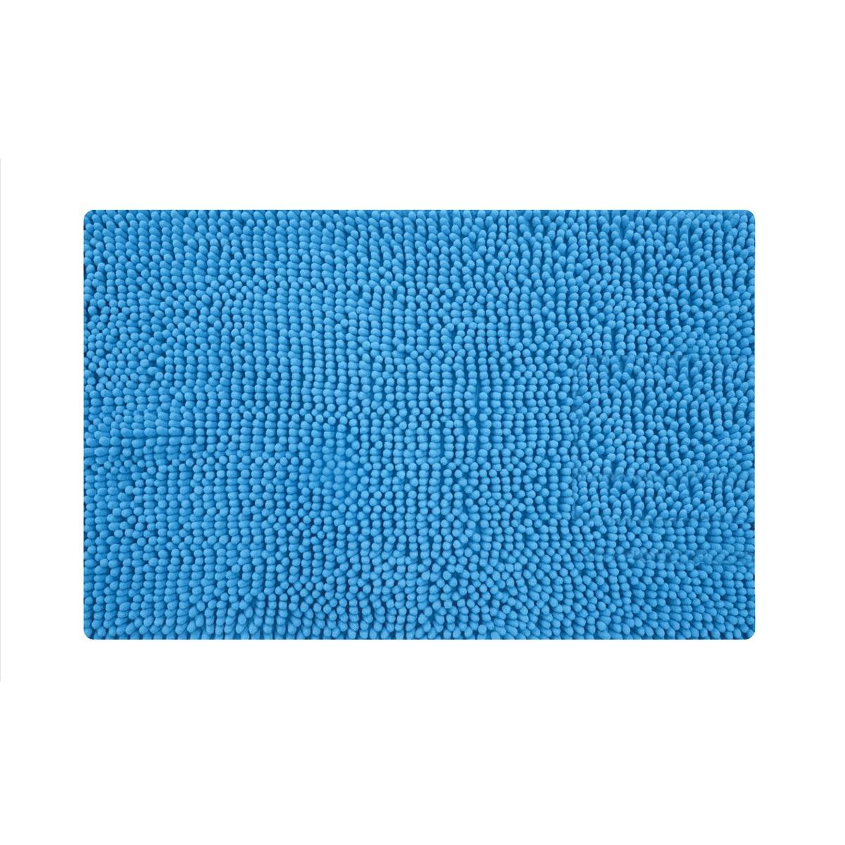 Коврик для ванной Iddis Blue Heaven, цвет: синий, 50 х 80 см620M580i12Коврик для ванной комнаты Iddis выполнен из микрофибры. Коврик имеет специальную основу, благодаря которой он не скользит на напольных покрытия в ванной, что обеспечивает безопасность во время использования. Коврик изготавливается по специальным технологиям машинного ручного тафтинга, что гарантирует высокое качество и долговечность.Антискользящее покрытие: Hot Melt. Высота ворса: 2 см.
