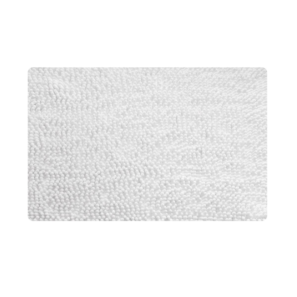 Коврик для ванной Iddis White leaf, цвет: белый, 50 х 80 см коврик дл ванной iddis leaf mid250a