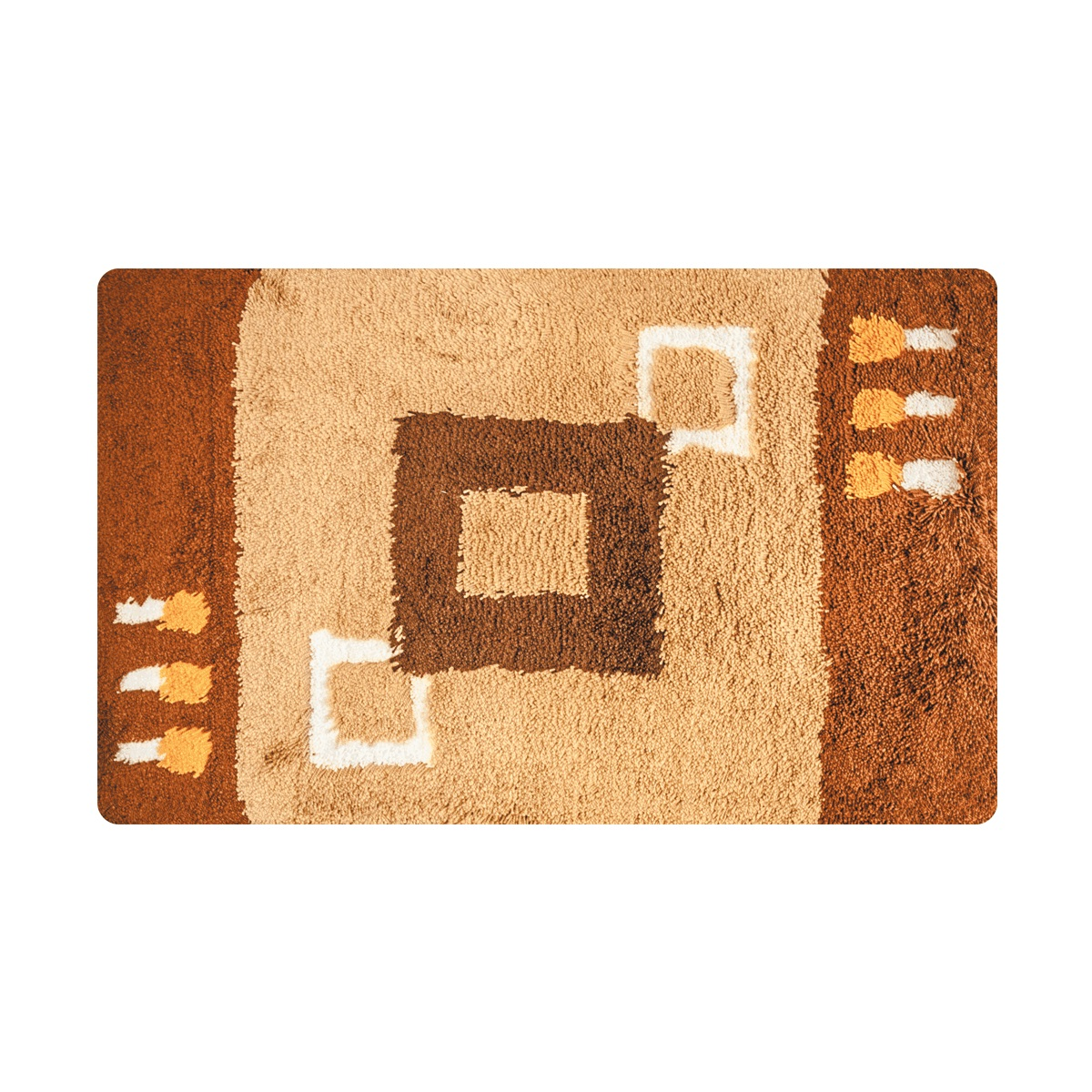 Коврик для ванной Iddis Corfu, цвет: коричневый, 50 х 80 смMID020Aматериал: 100% акрил, высота ворса от 1,5 до 2,5 см., латексная основа, упаковка ПП пакет