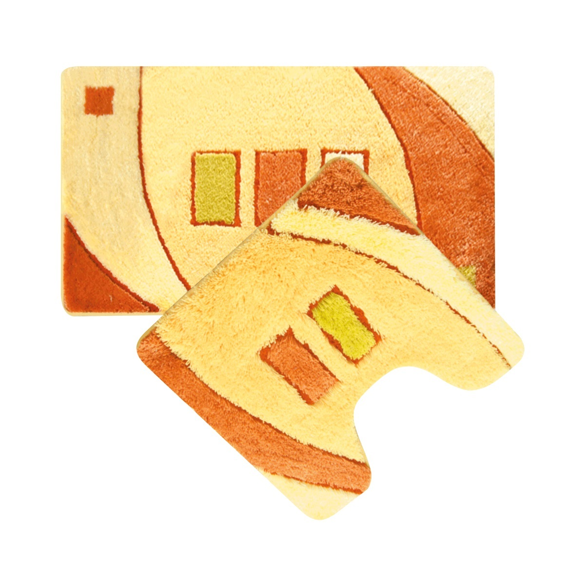 Набор ковриков для ванной Iddis Gold Sands, цвет: бежевый, 50 х 80 см, 50 х 50 см, 2 штMID090AS100% Акриловый тканный коврик для ванной комнаты на латексной основе, набор из двух ковриков Высота ворса 2.5см