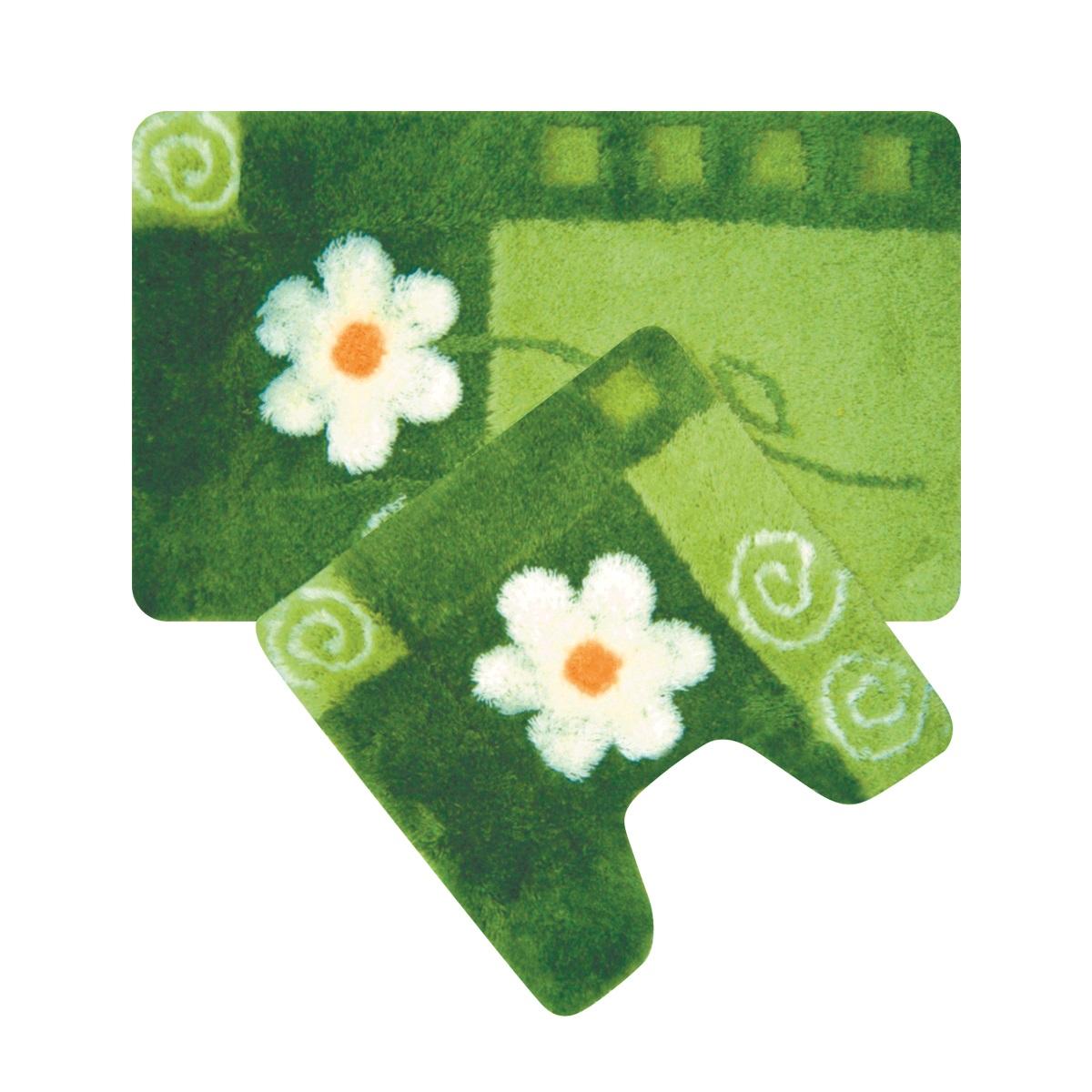 Набор ковриков для ванной Iddis Set Acrylic, цвет: зеленый, 50 х 80 см, 50 х 50 см, 2 штMID140ASНабор ковриков для ванной комнаты и туалета Iddis выполнен из акрила. Коврики имеют специальную латексную основу, благодаря которой они не скользят на напольных покрытия в ванной, что обеспечивает безопасность во время использования. Коврики изготавливаются по специальным технологиям машинного ручного тафтинга, что гарантирует высокое качество и долговечность.Высота ворса: от 1,5 до 2,5 см.